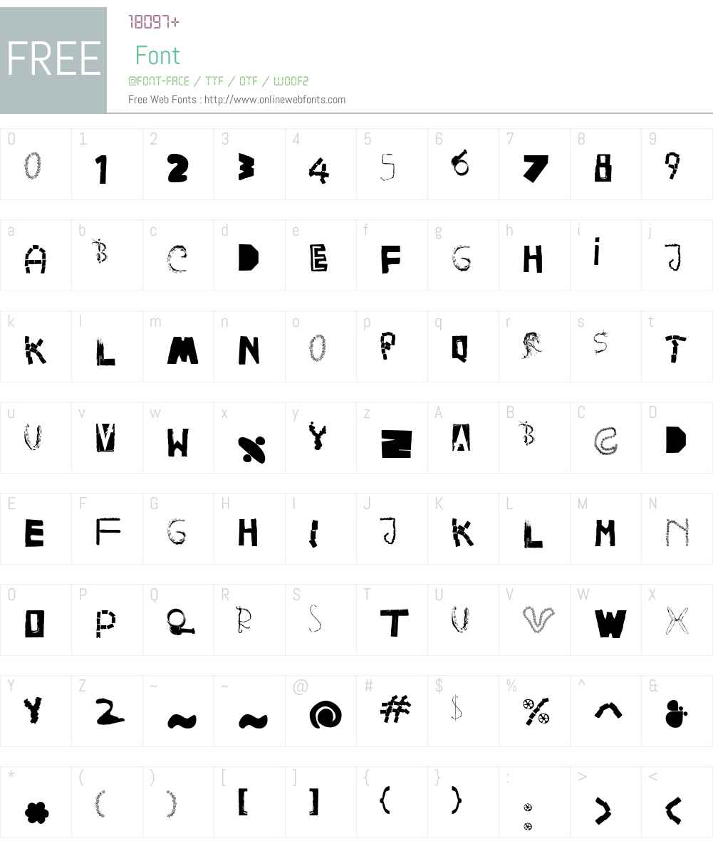 HappyFrushZero Font Screenshots