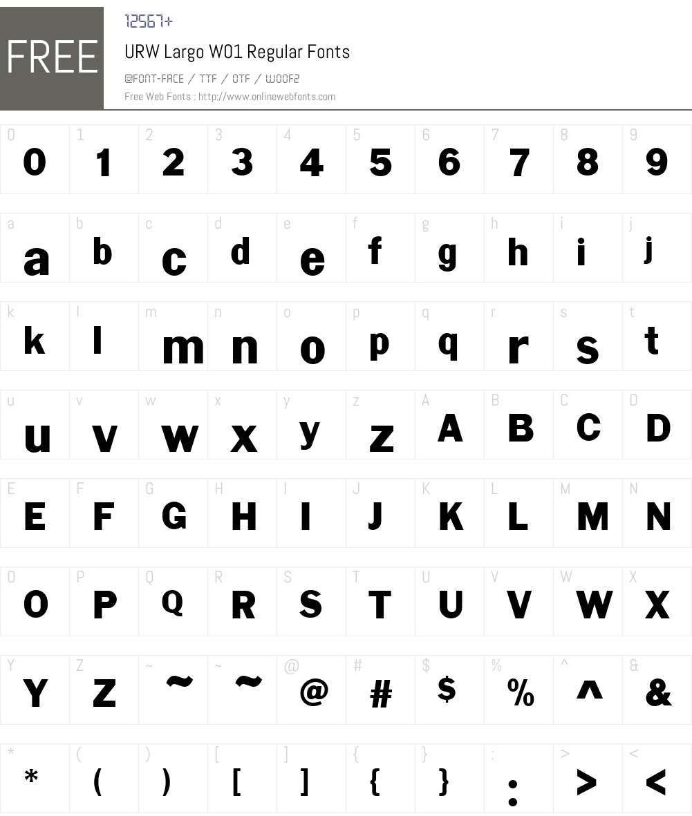 URWLargoW01-Regular Font Screenshots