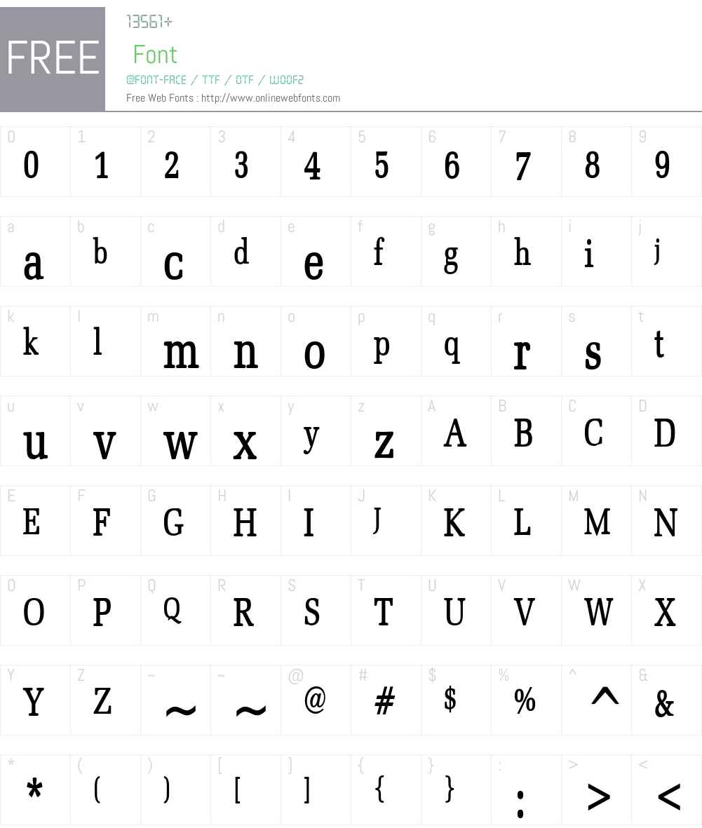 Bid Roman Thin Font Screenshots