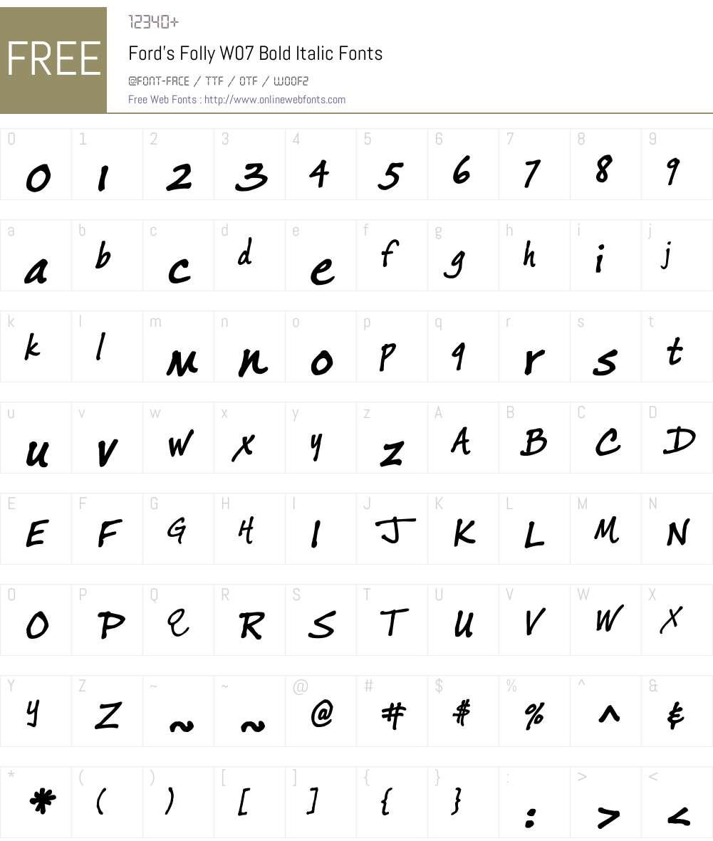 Ford's Folly Font Screenshots