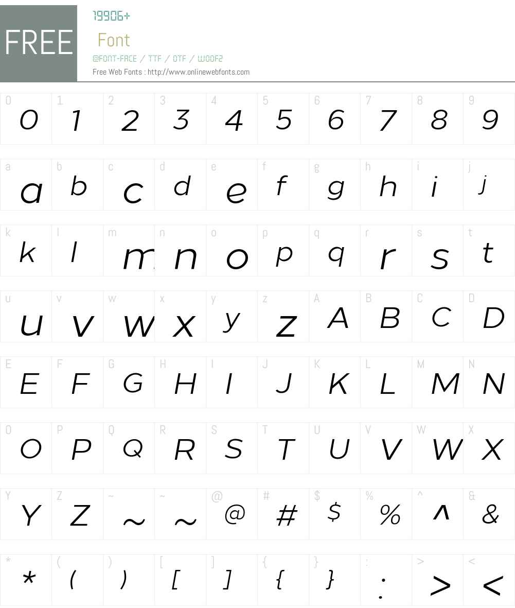 LoewW00-Italic Font Screenshots
