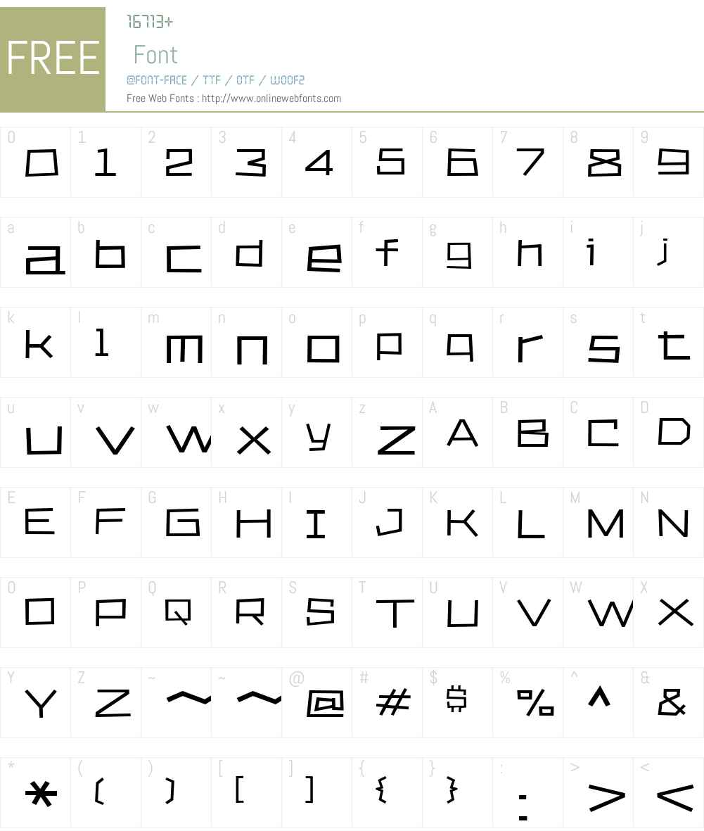 KvadratZW00-Regular Font Screenshots