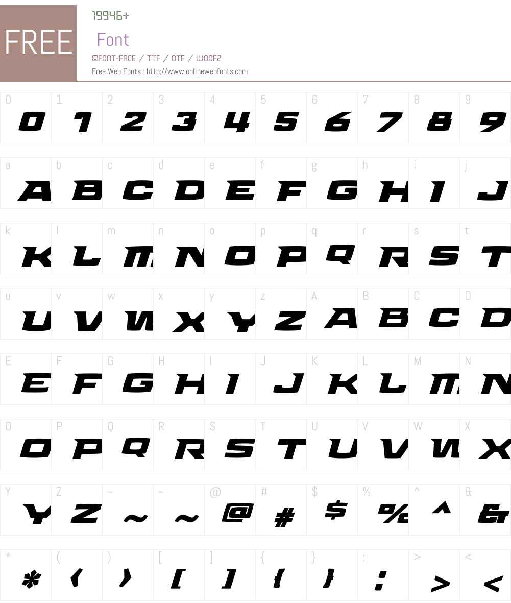 Aviano Future Heavy Fast Font Screenshots
