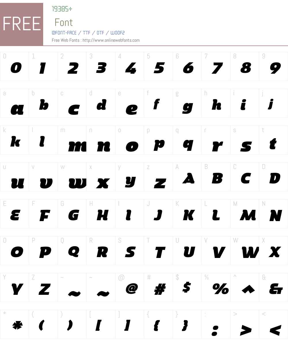MarintasW01-UltraItalic Font Screenshots