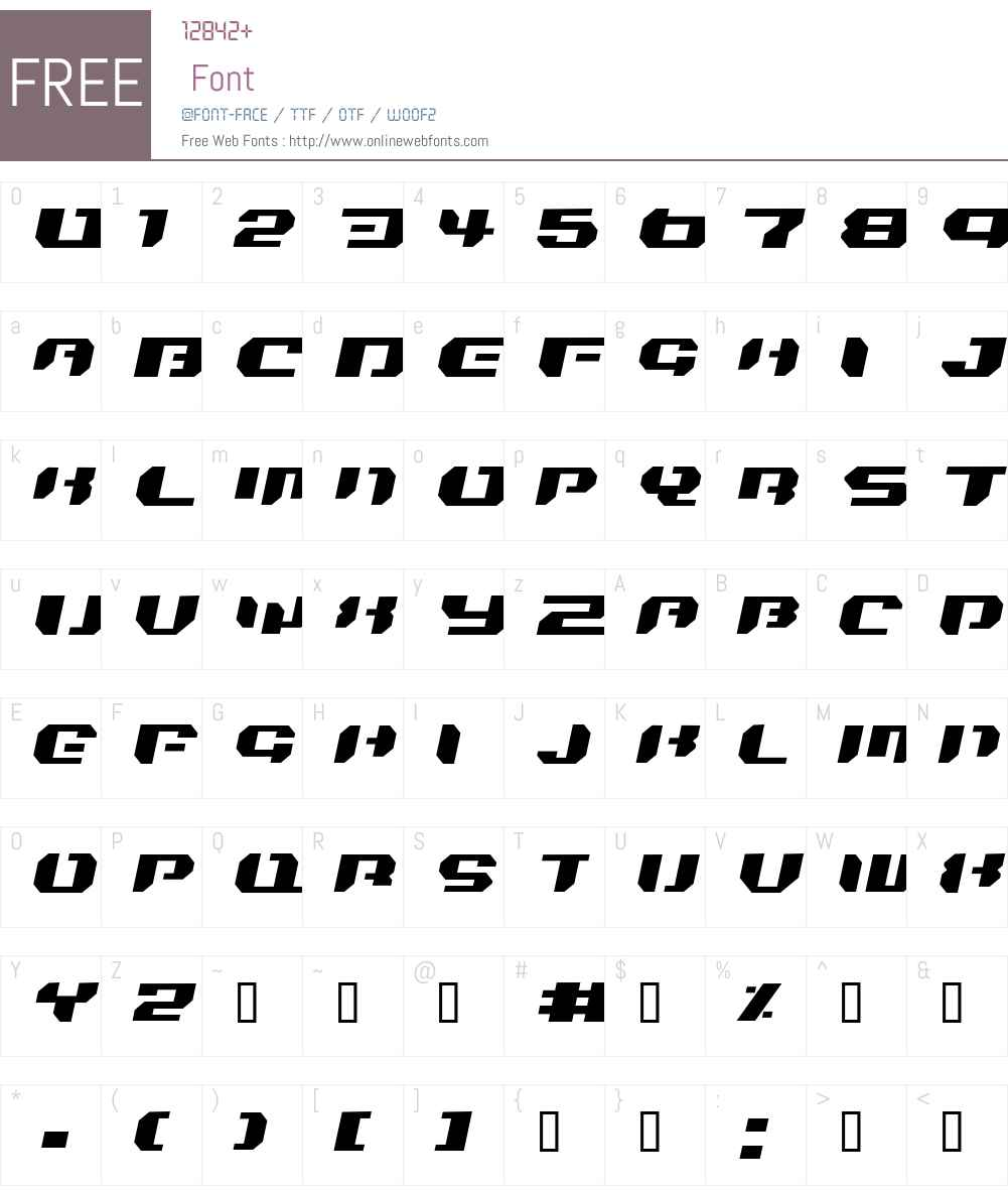 Bionic Kid Simple Slanted Font Screenshots