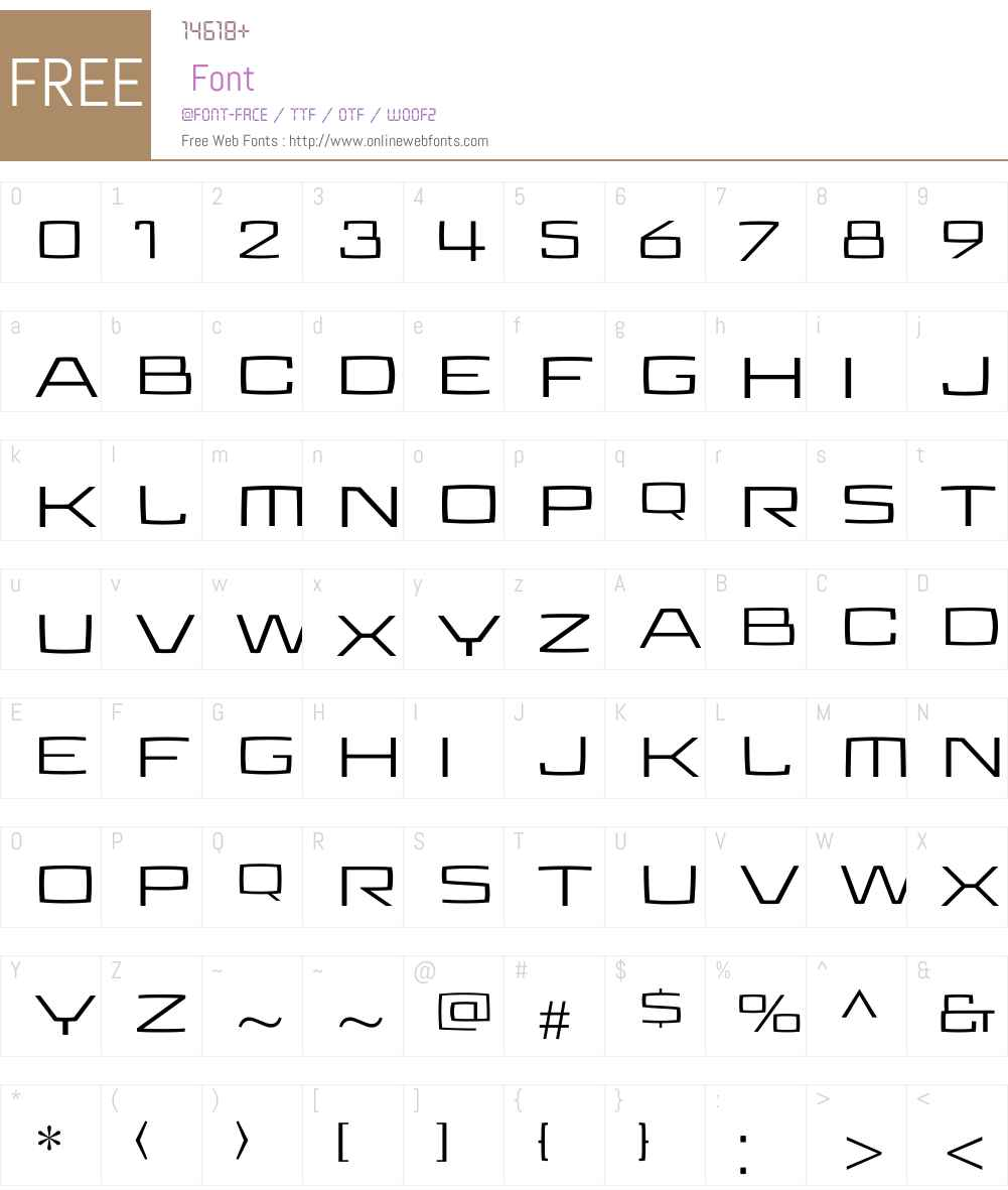 Aviano Future Regular Font Screenshots