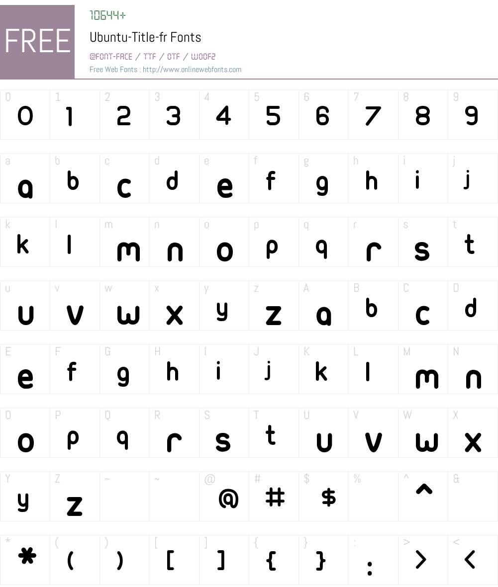 Ubuntu-Title-fr Font Screenshots
