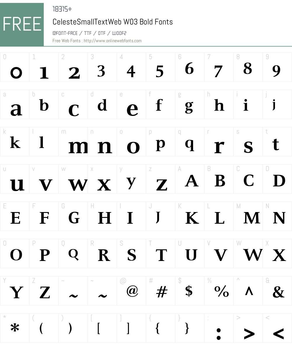 FF Celeste Small Text Font Screenshots