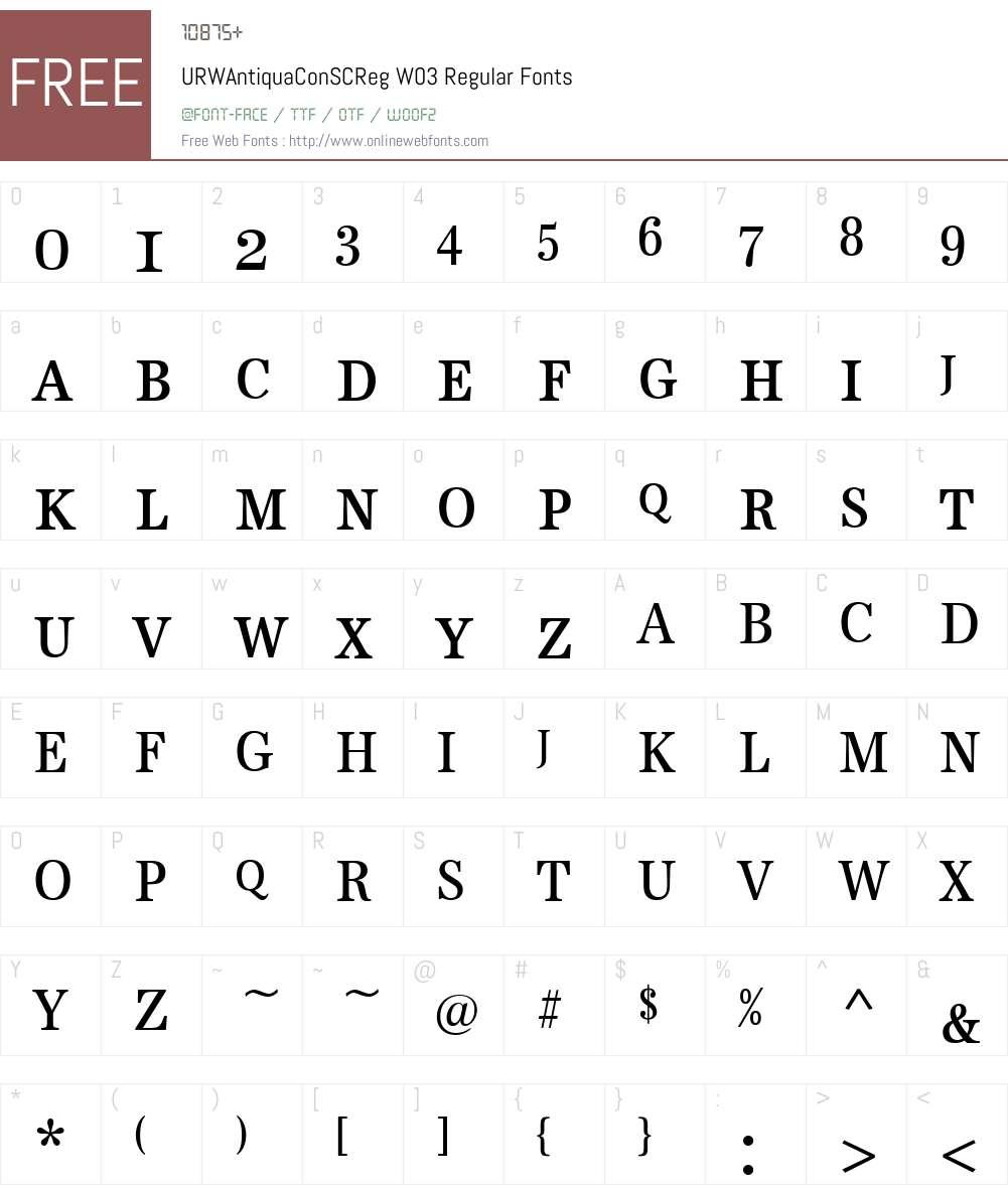 URW Antiqua Font Screenshots