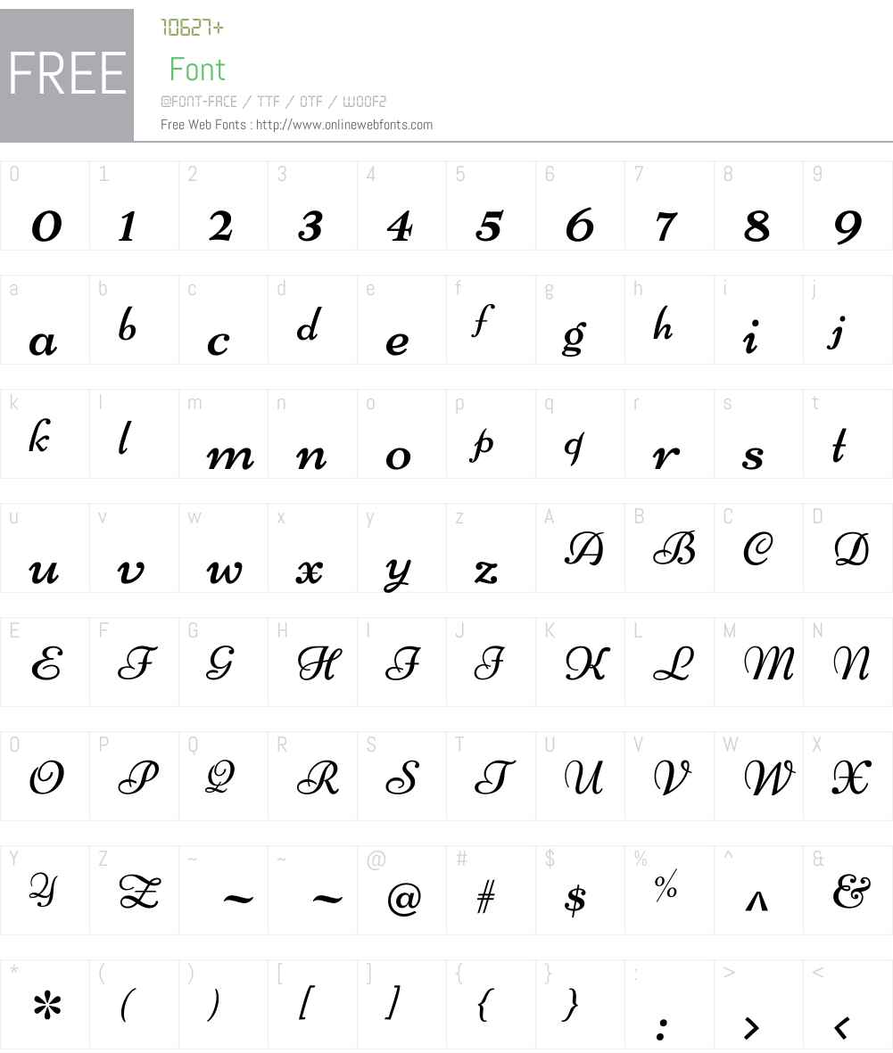 Niconne Font Screenshots