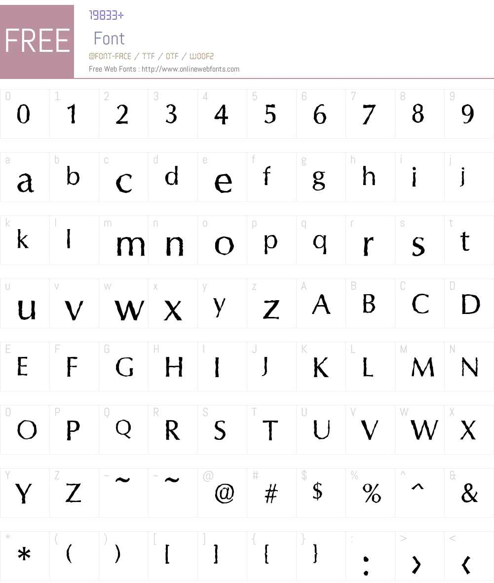 ColumbiaAntique Font Screenshots