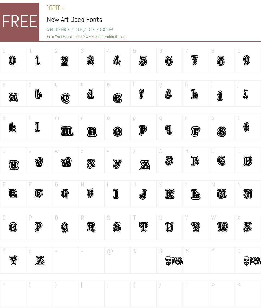 New Art Deco Font Screenshots