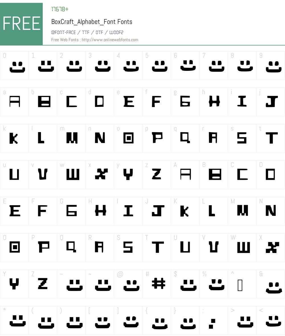 BoxCraft_Alphabet_Font Font Screenshots