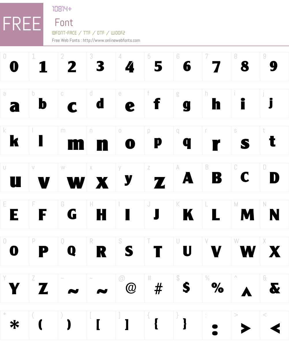 Cleaxgothic Font Screenshots