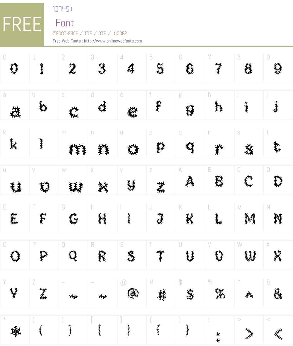 TiedUp Font Screenshots