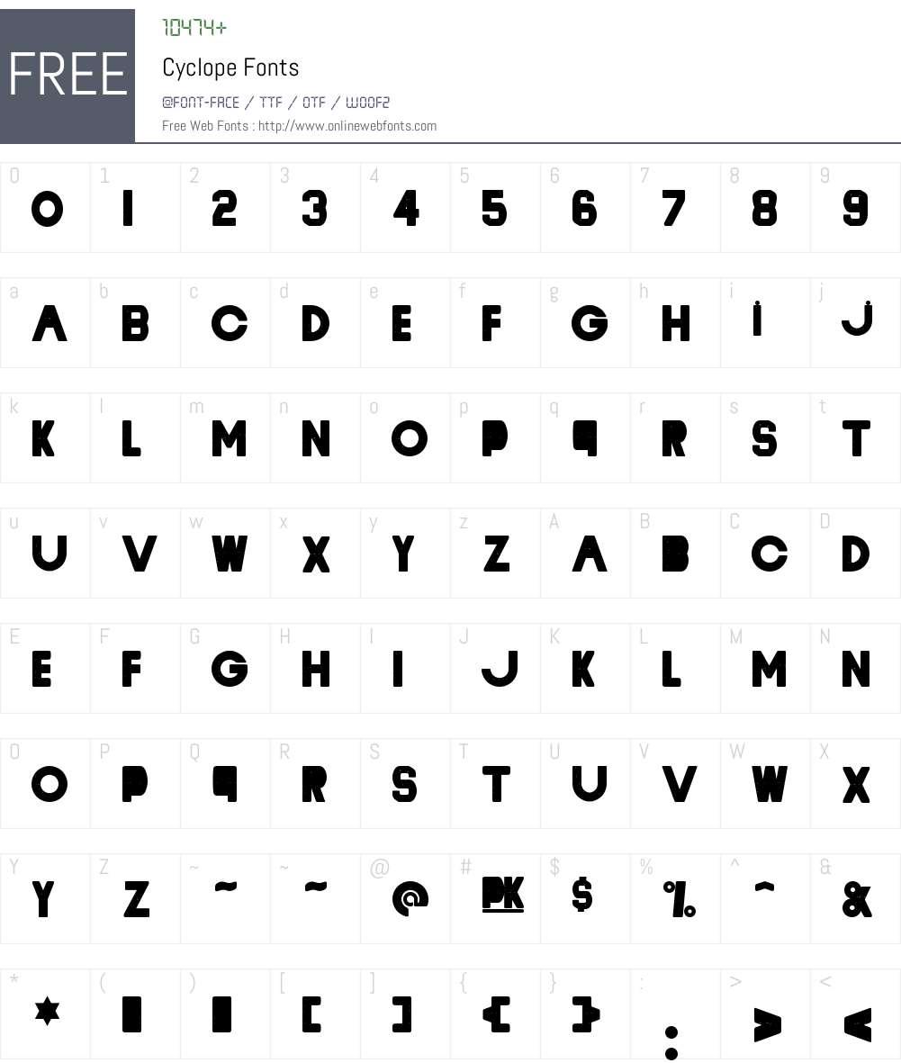 Cyclope Font Screenshots