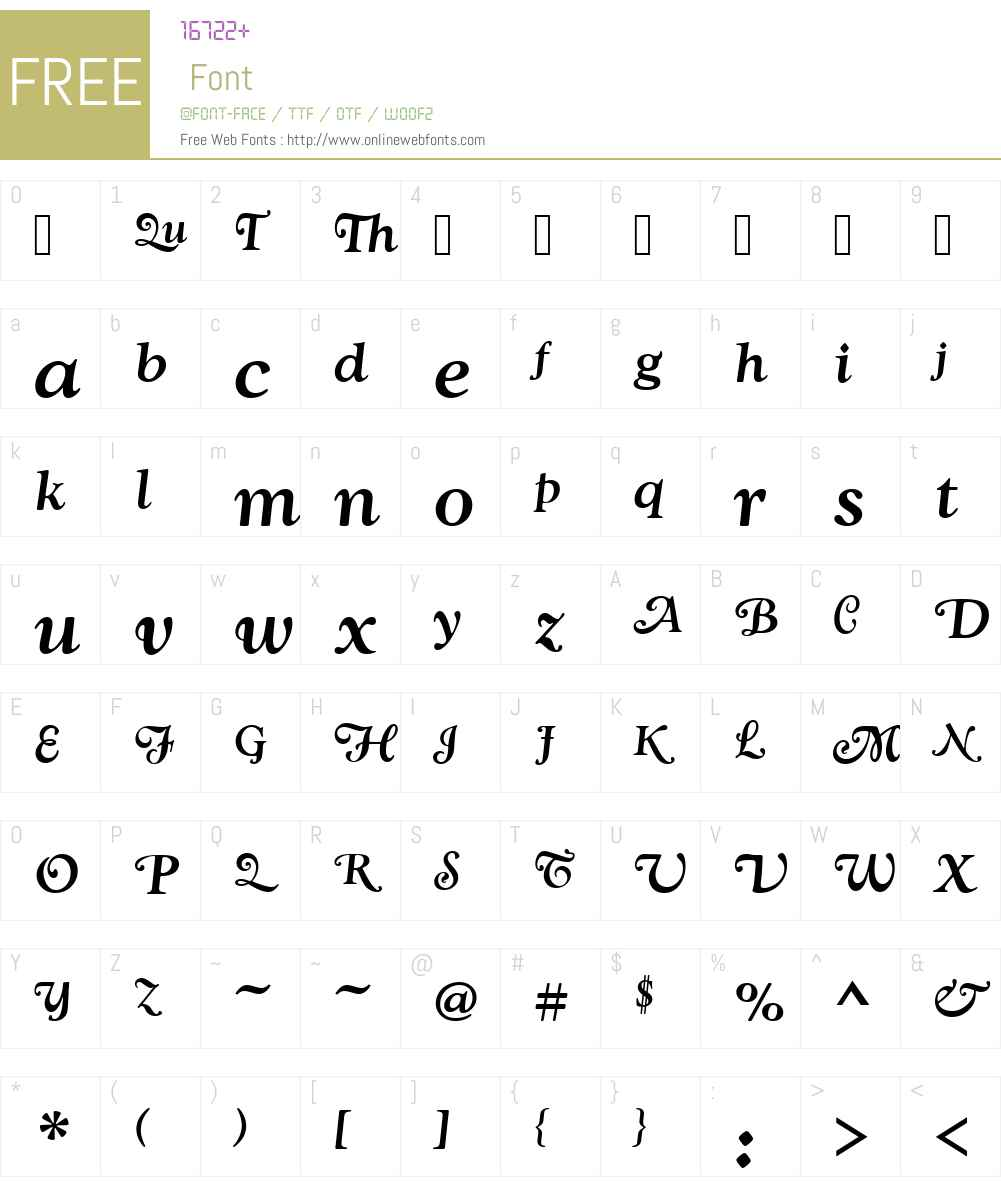 GoudySwaTMed Font Screenshots