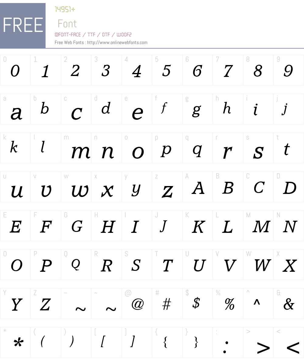 AccoladeW00-LightItalic Font Screenshots