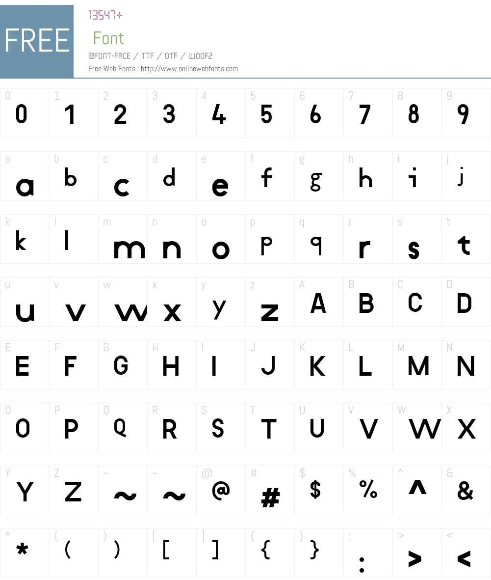 Koliko Font Screenshots