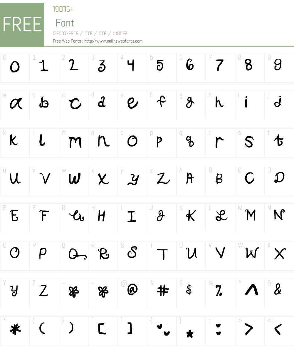 pop-u-lar Font Screenshots