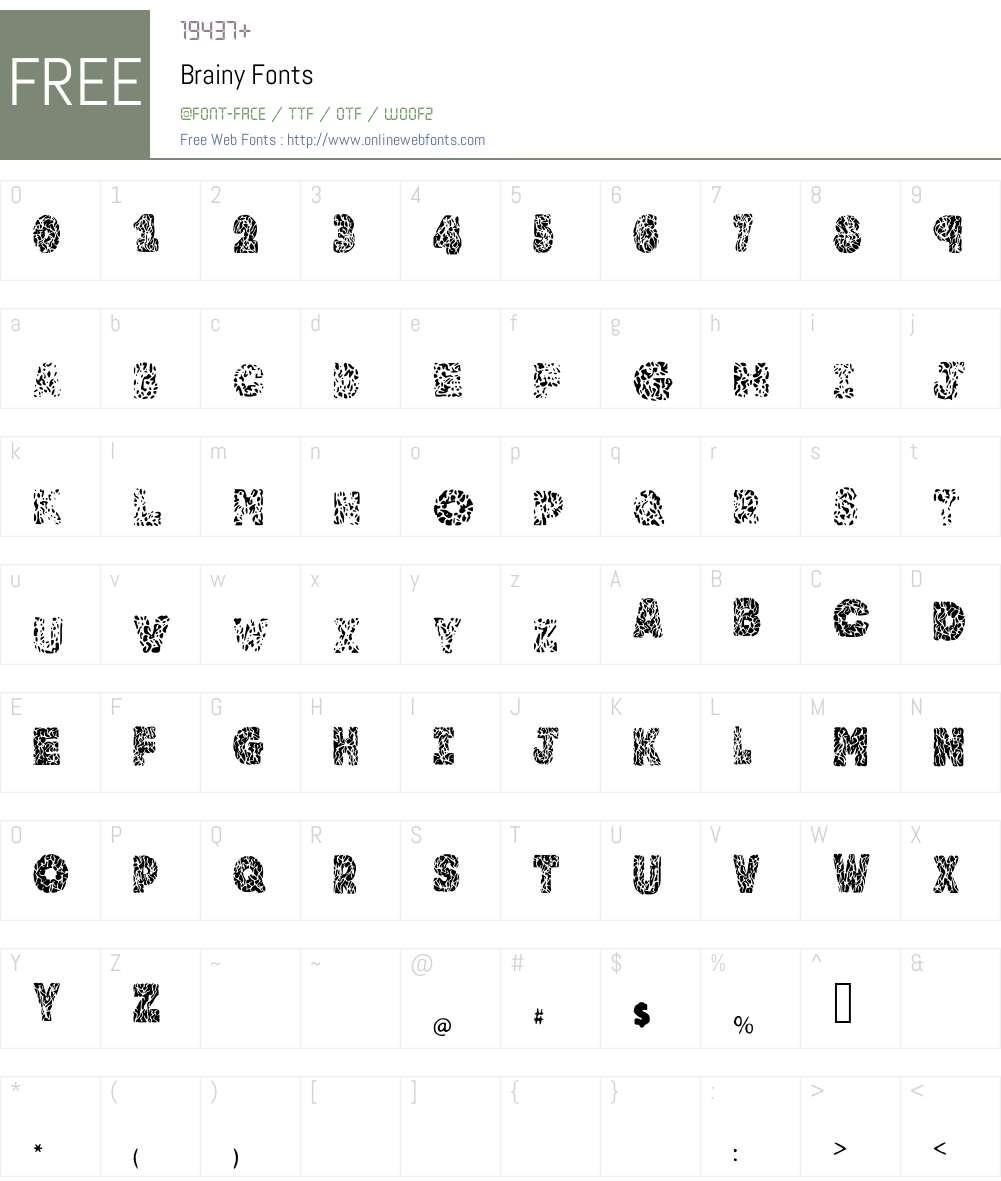 Brainy Font Screenshots