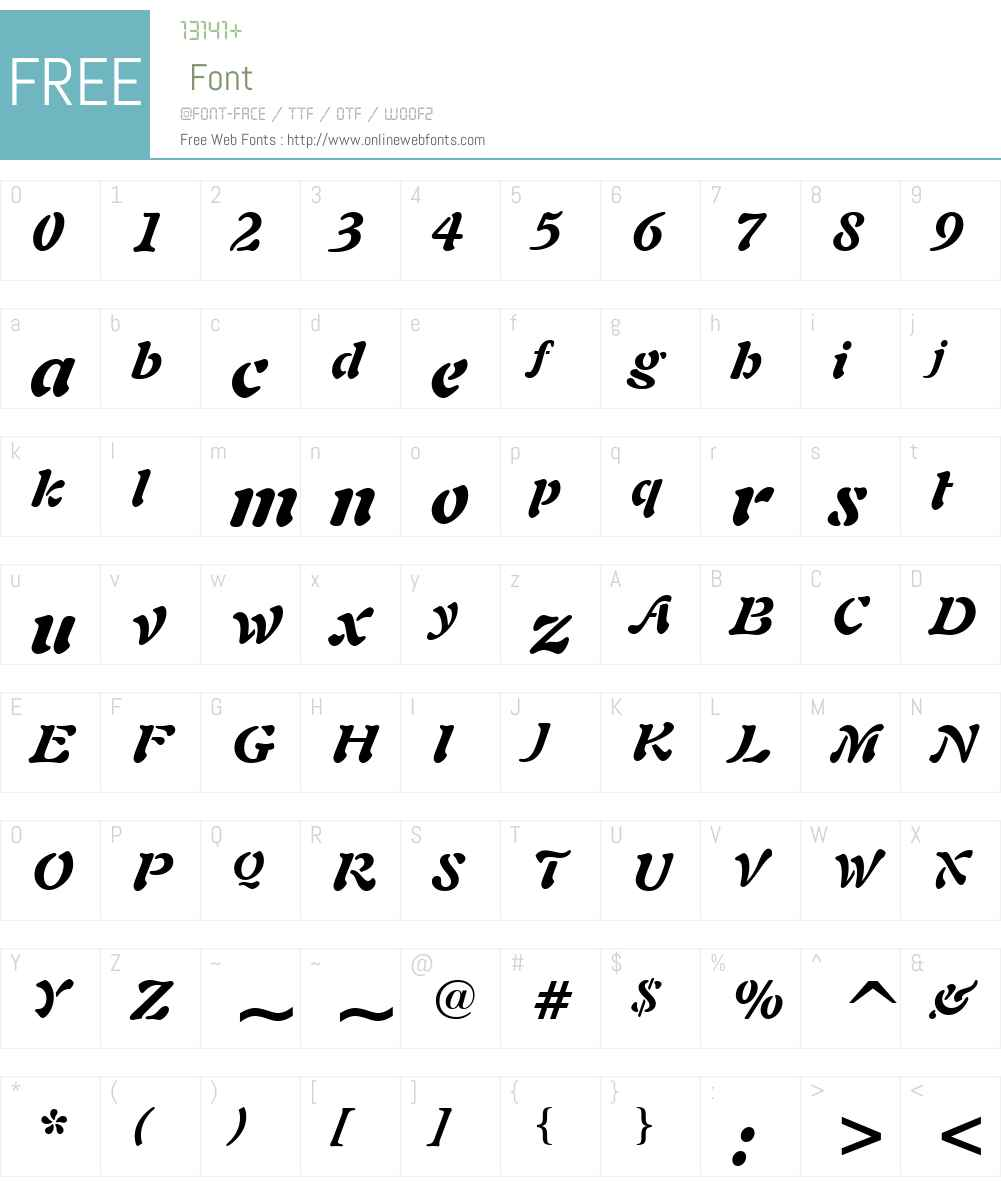 Freeform 721 Font Screenshots