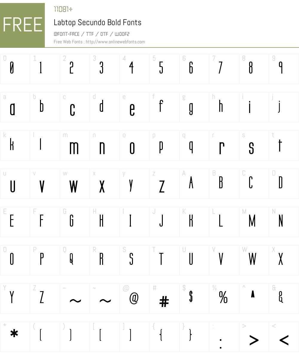 Labtop Secundo Font Screenshots