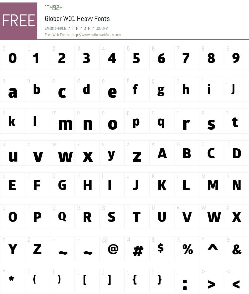 GloberW01-Heavy Font Screenshots