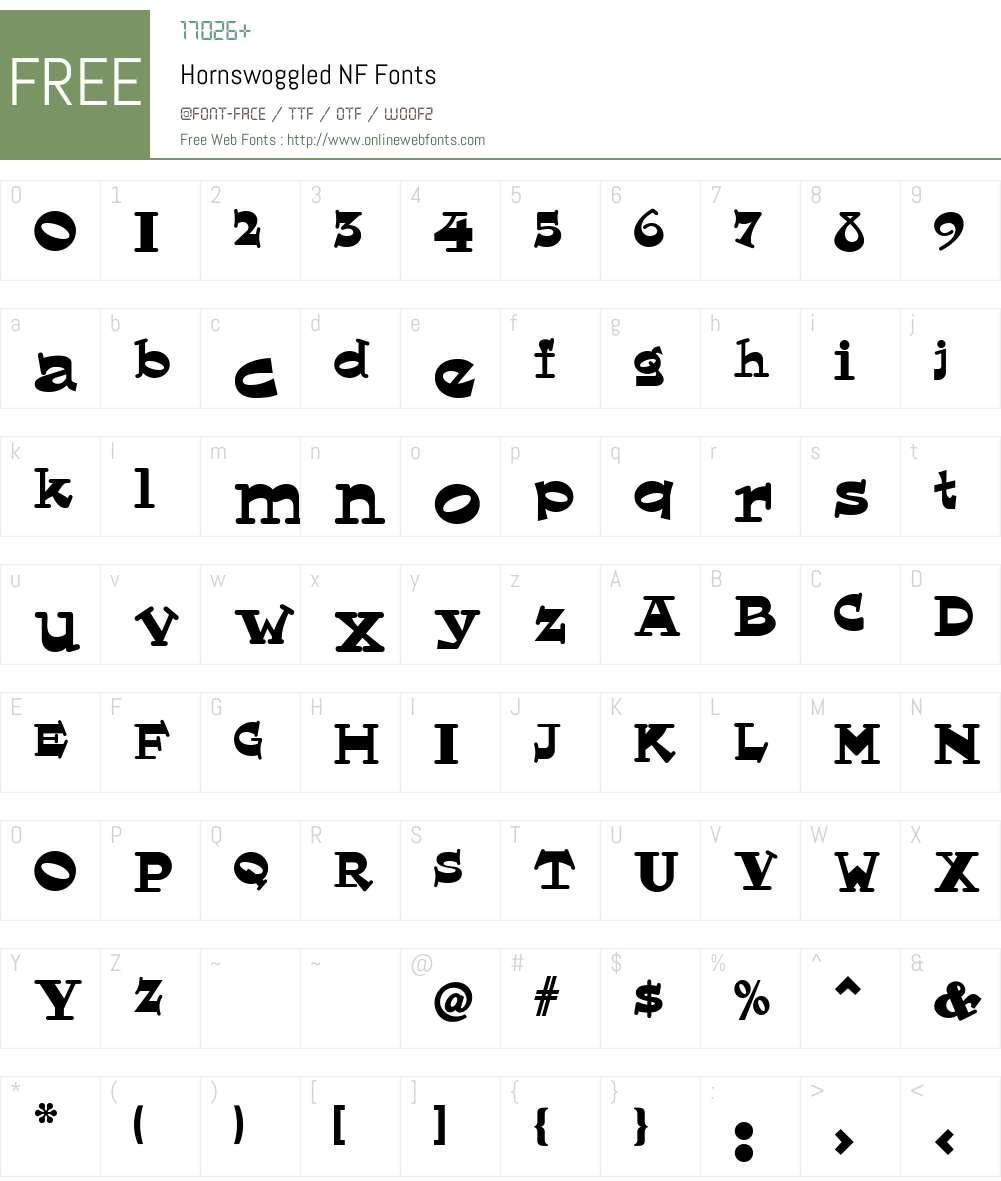 Hornswoggled NF Font Screenshots