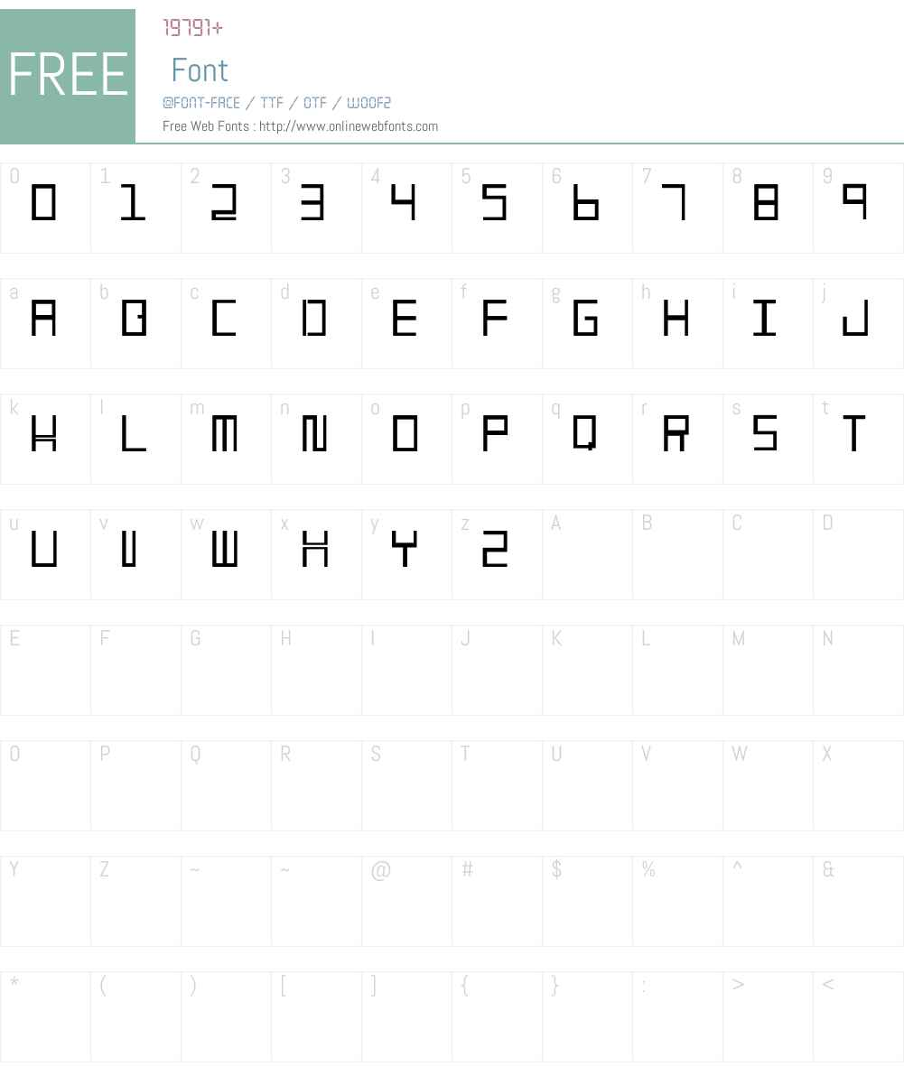 486 Font Screenshots