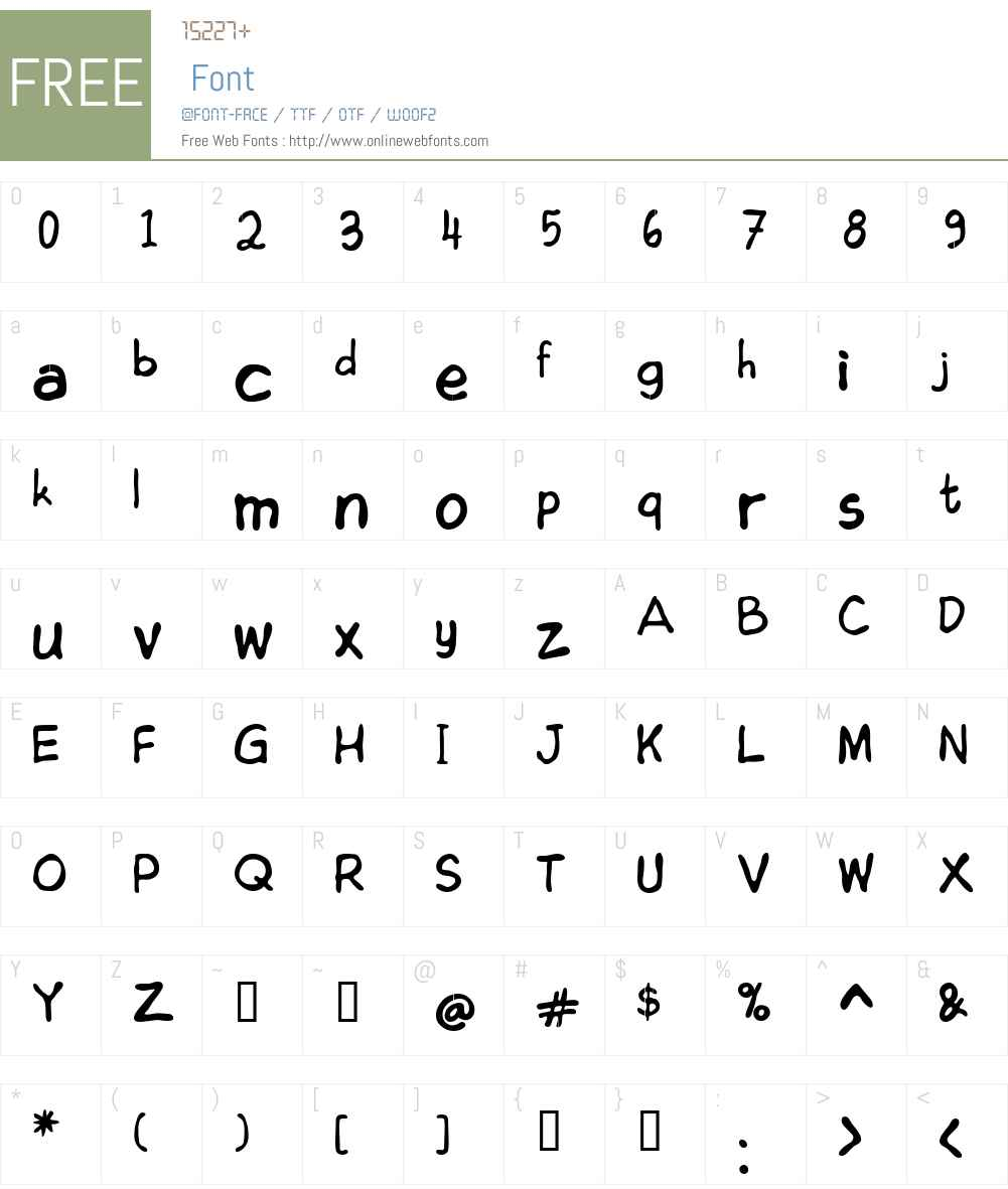Edoms Handwritting Normal Font Screenshots