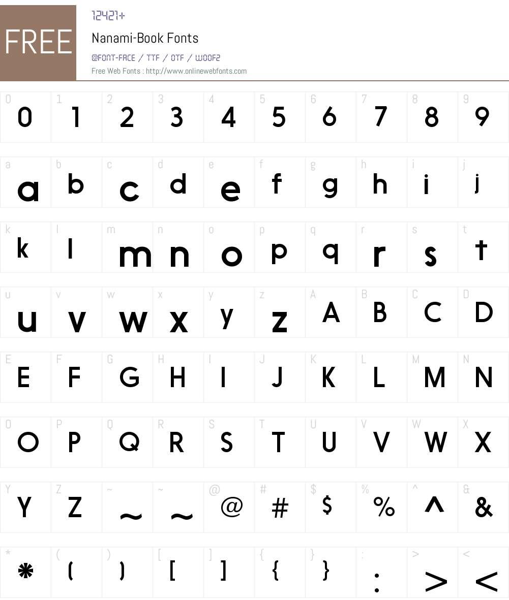Nanami Font Screenshots