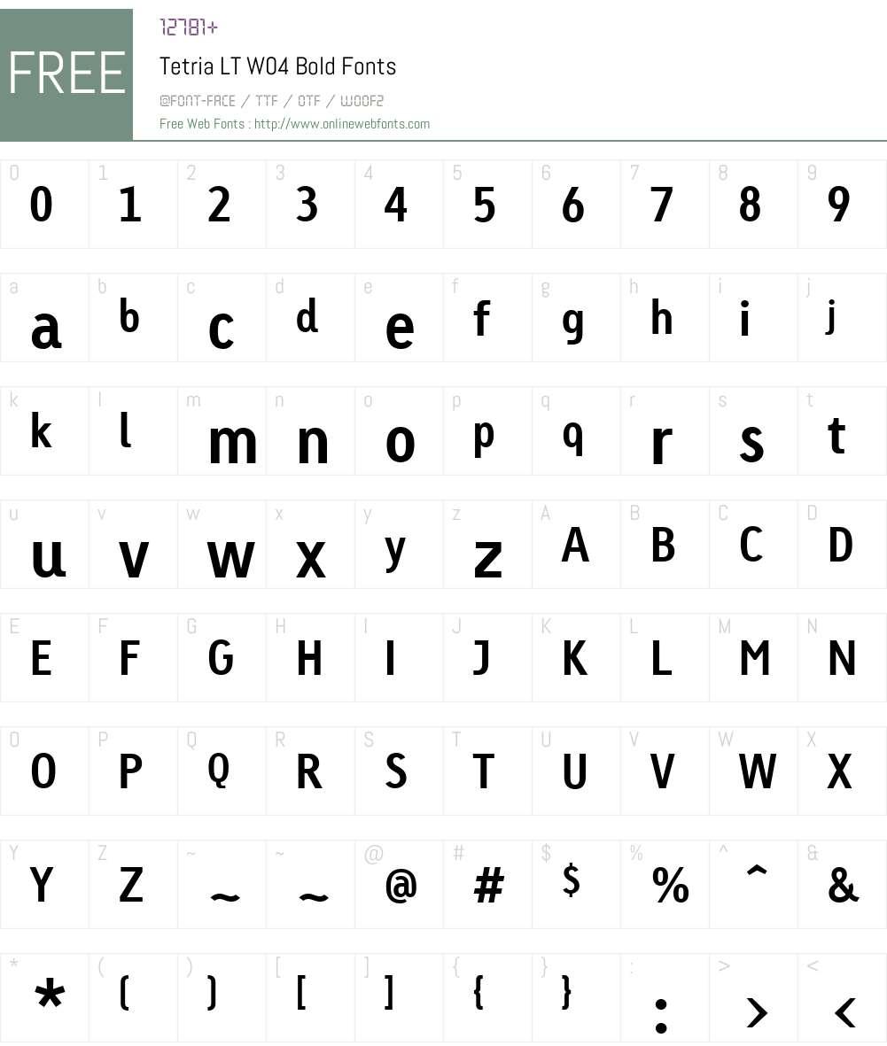 Linotype Tetria Font Screenshots