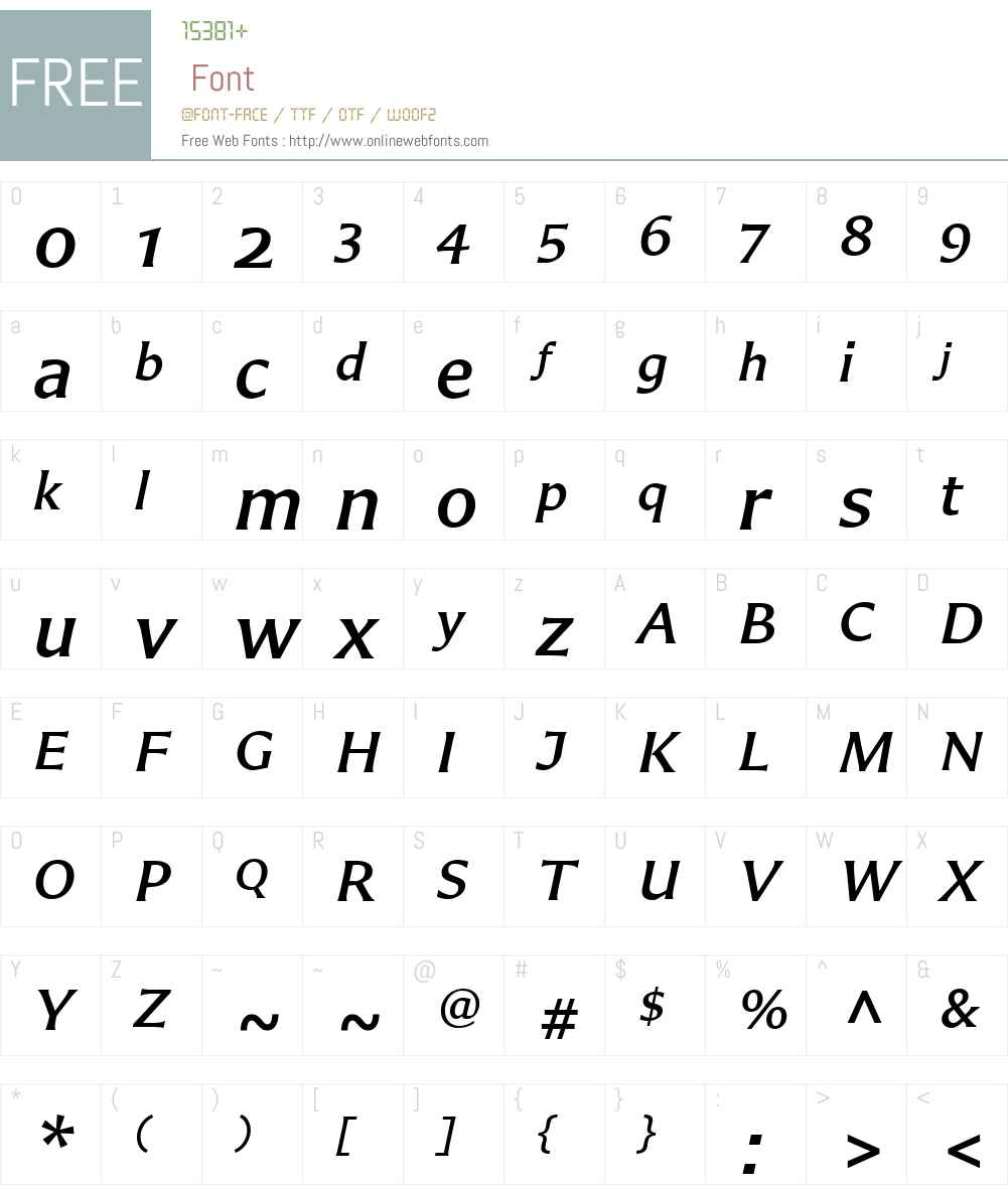 CarterSansW01-MediumIt Font Screenshots