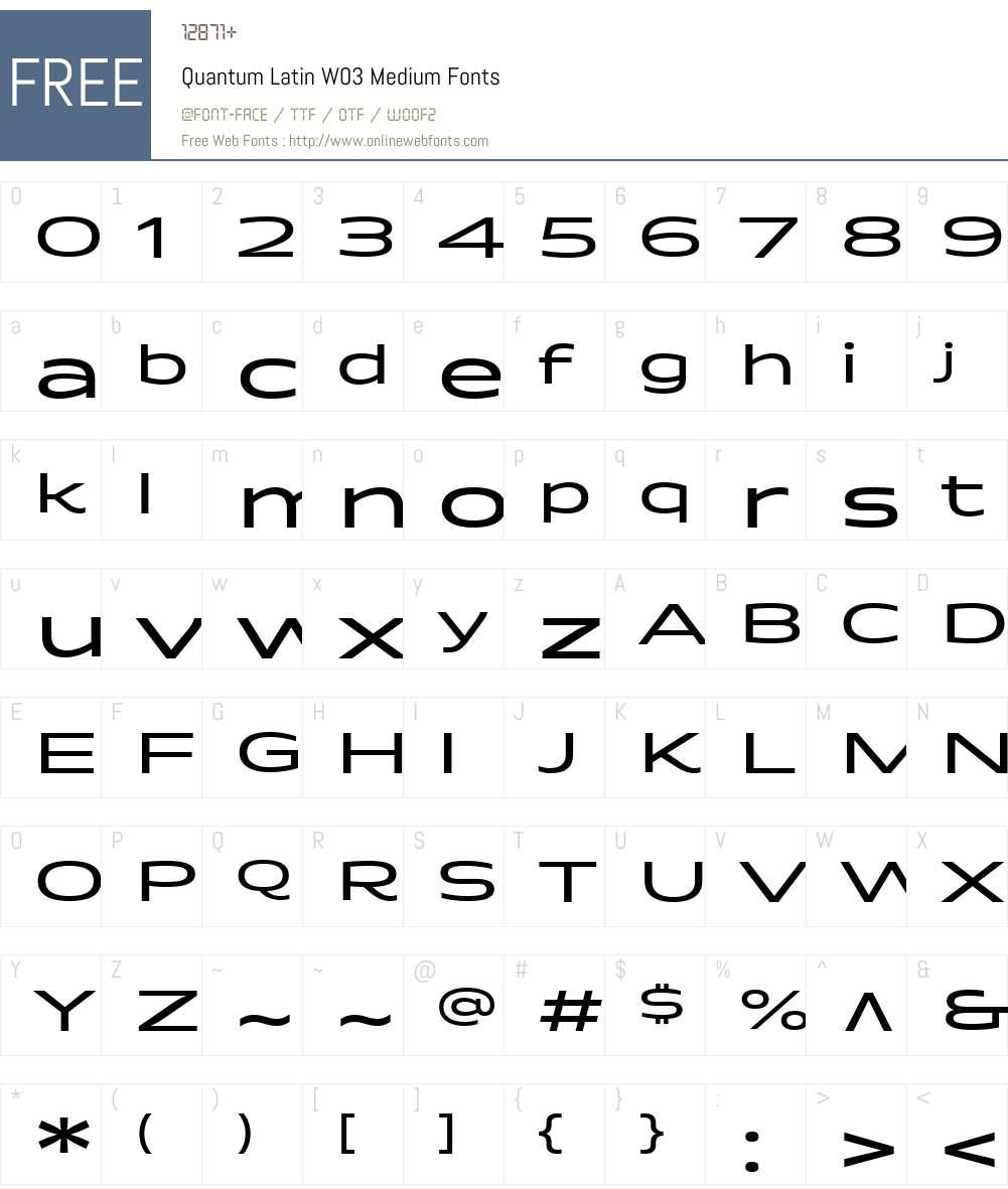 Quantum Latin Font Screenshots