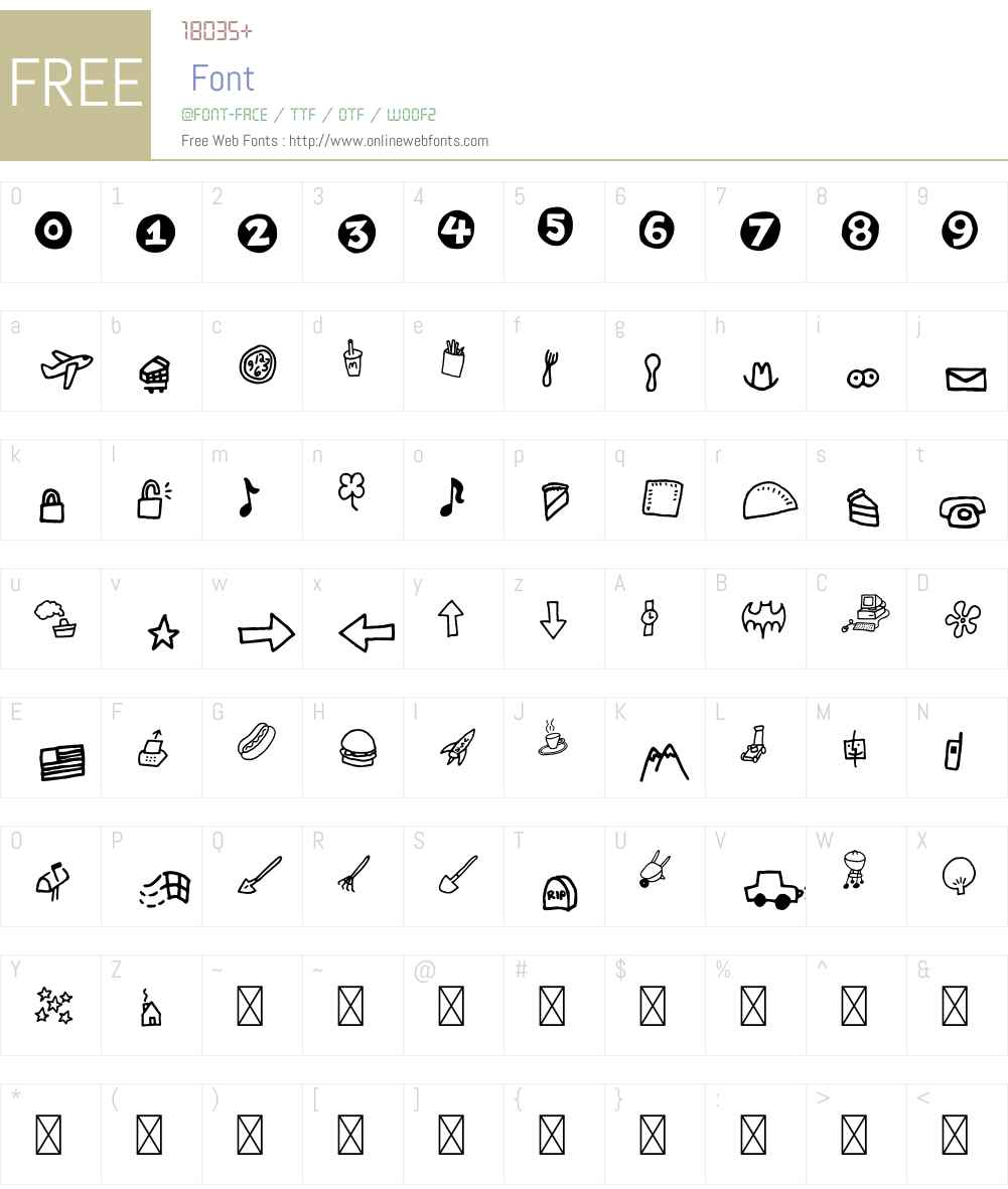 ChankbatsW95-Objects Font Screenshots