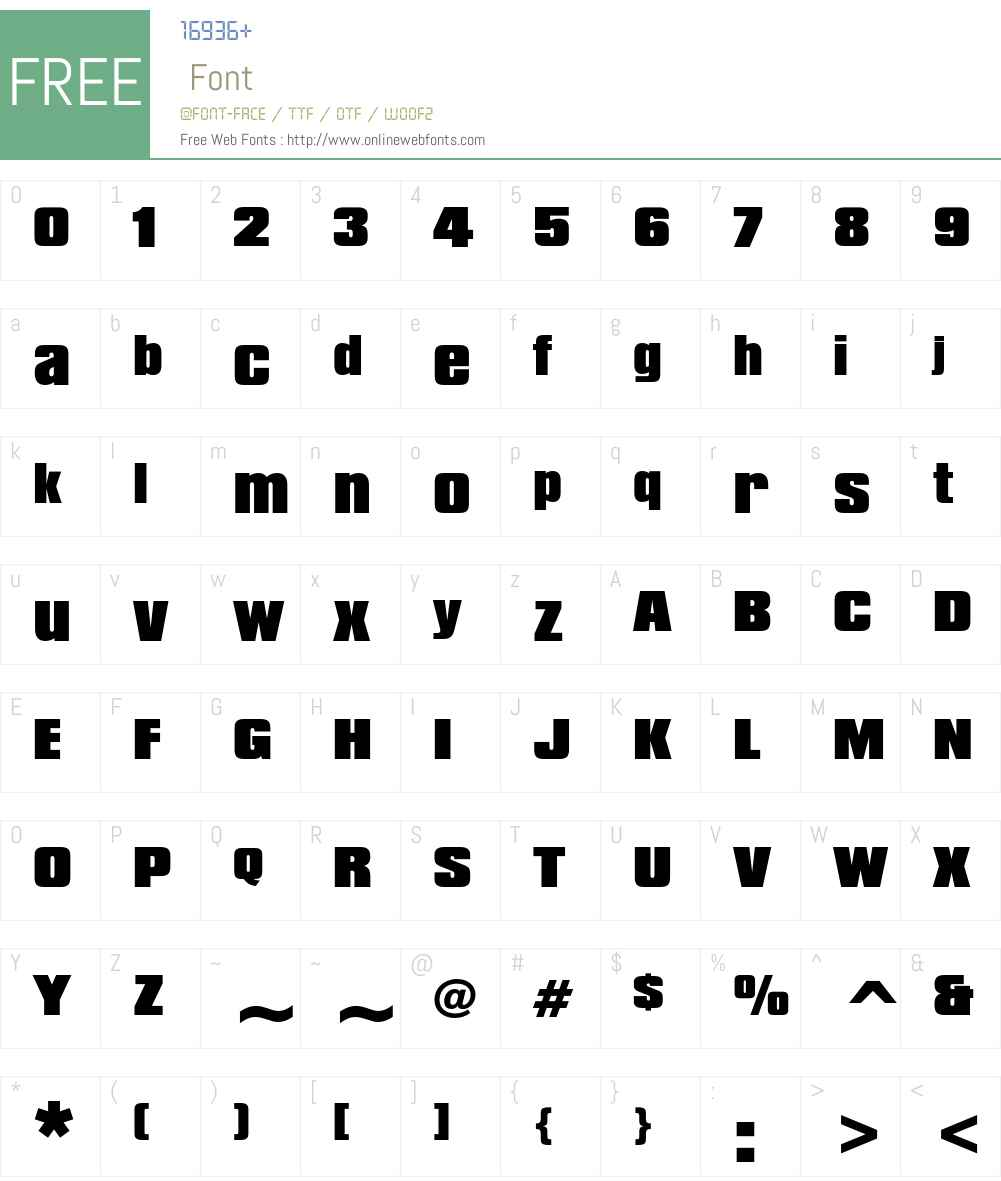Compacta Font Screenshots