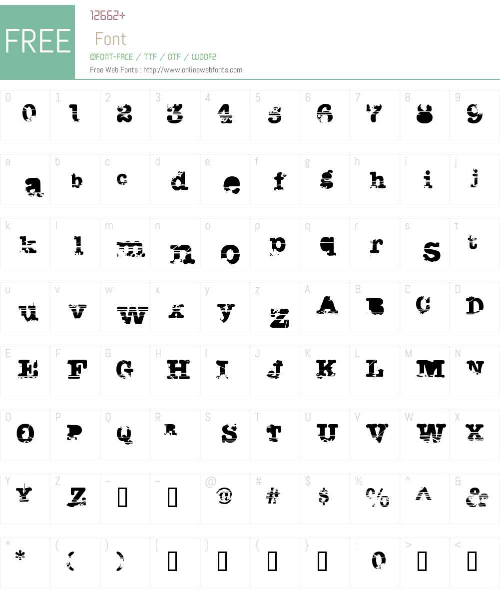 Sacrafical Font Screenshots