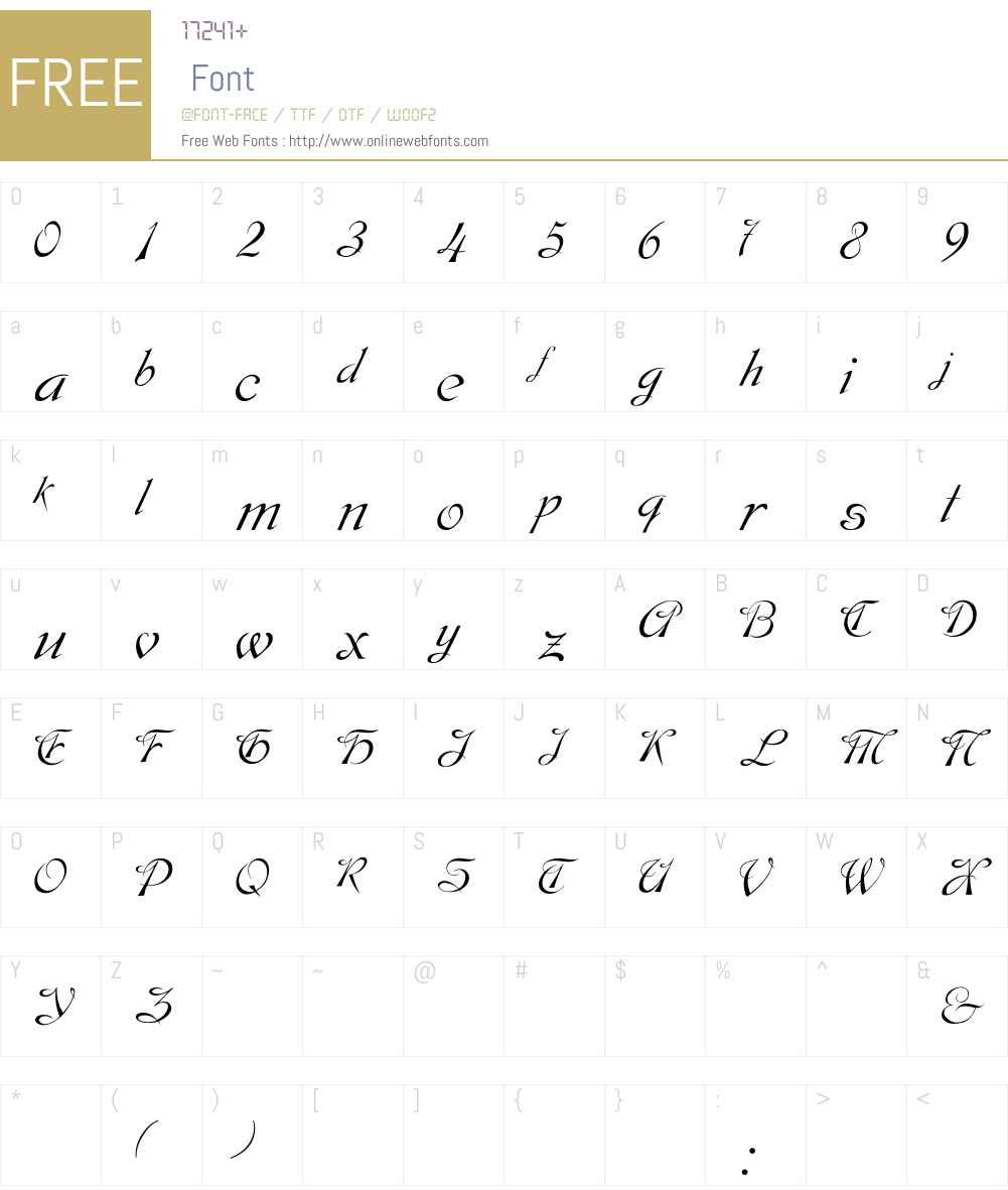 Dobkin Font Screenshots