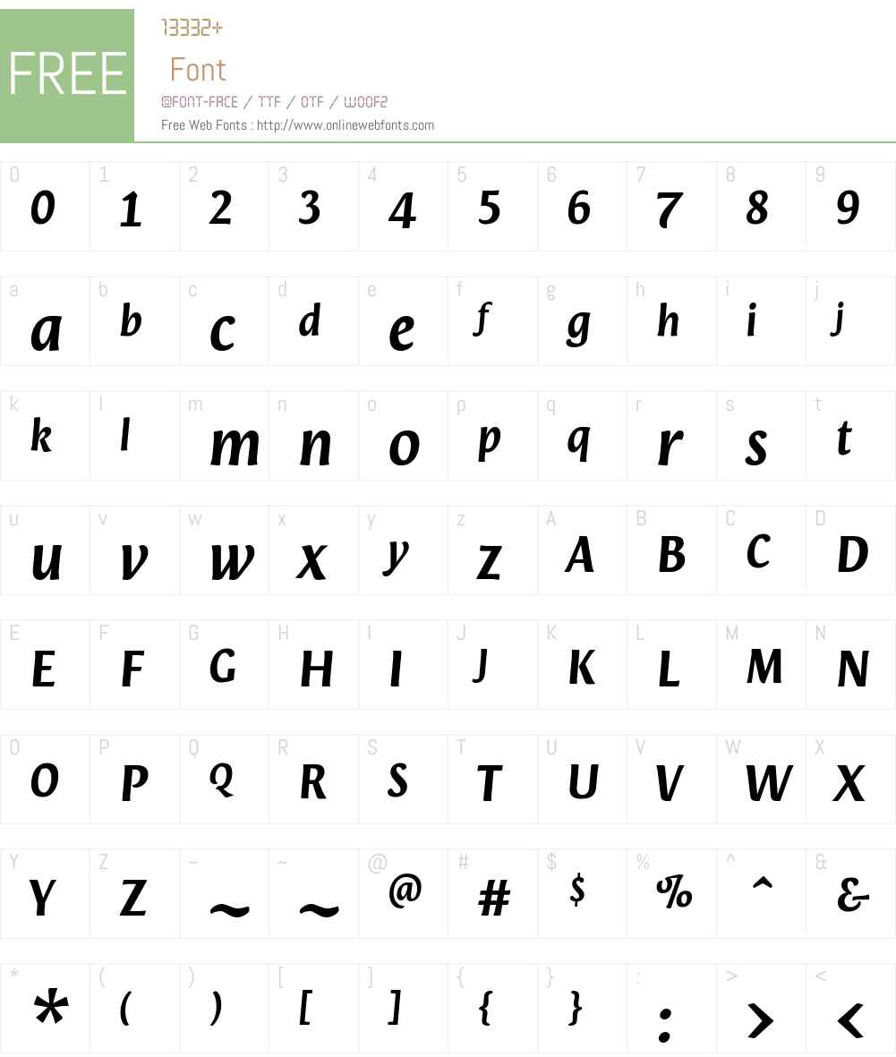 Orenga Font Screenshots
