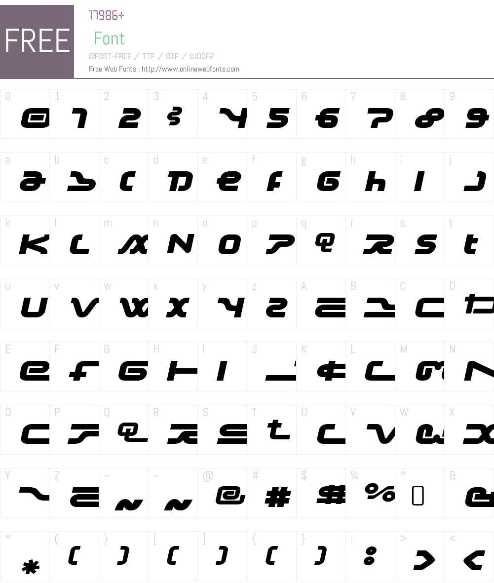 Frozdotre Font Screenshots