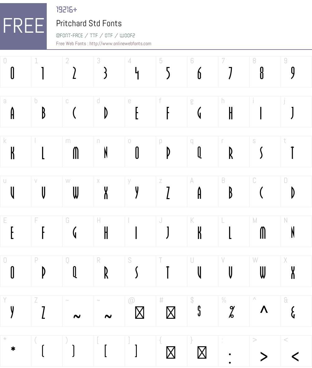 Pritchard Std Font Screenshots