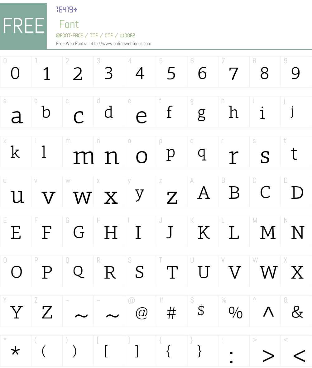 ForoRounded Font Screenshots