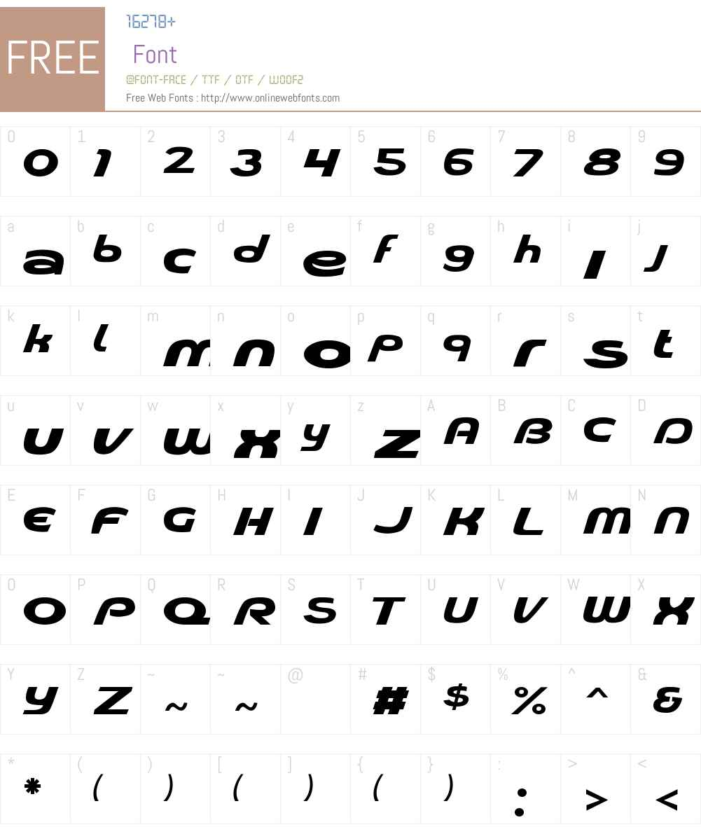 Pioneer Font Screenshots