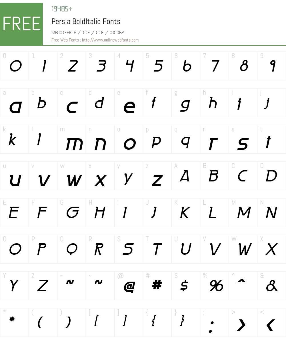 Persia Font Screenshots