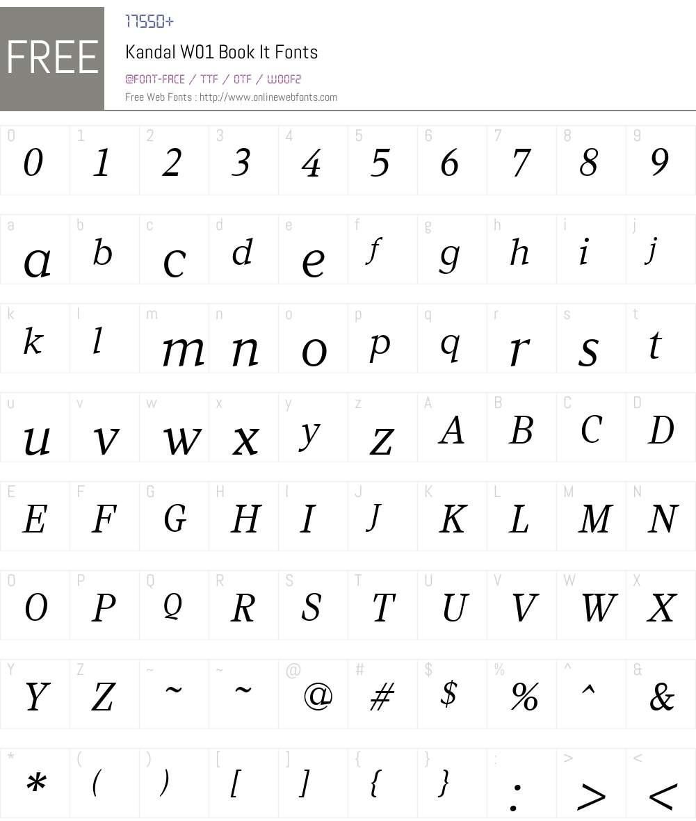 KandalW01-BookIt Font Screenshots