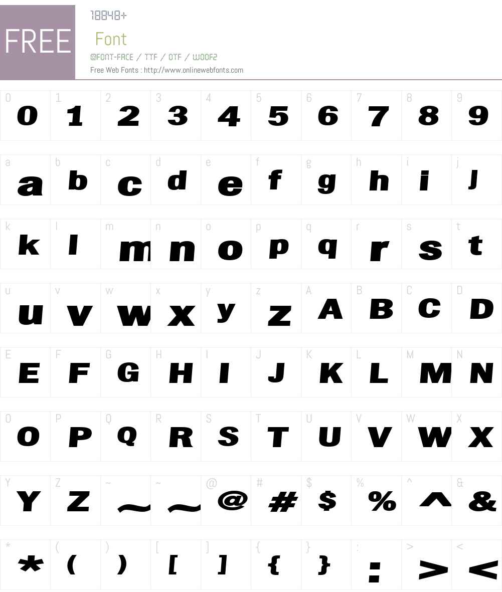ChubbetDistendedW01-BlackIt Font Screenshots
