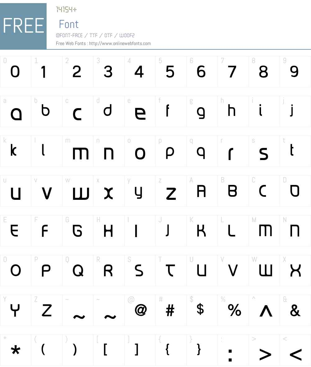 RiptCure Light Font Screenshots