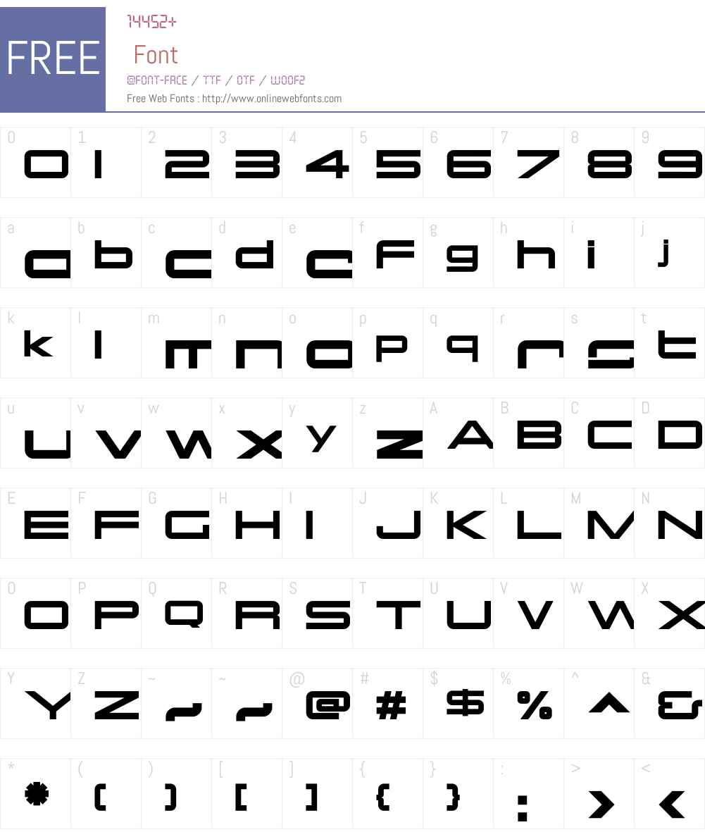OtomoW00-Regular Font Screenshots