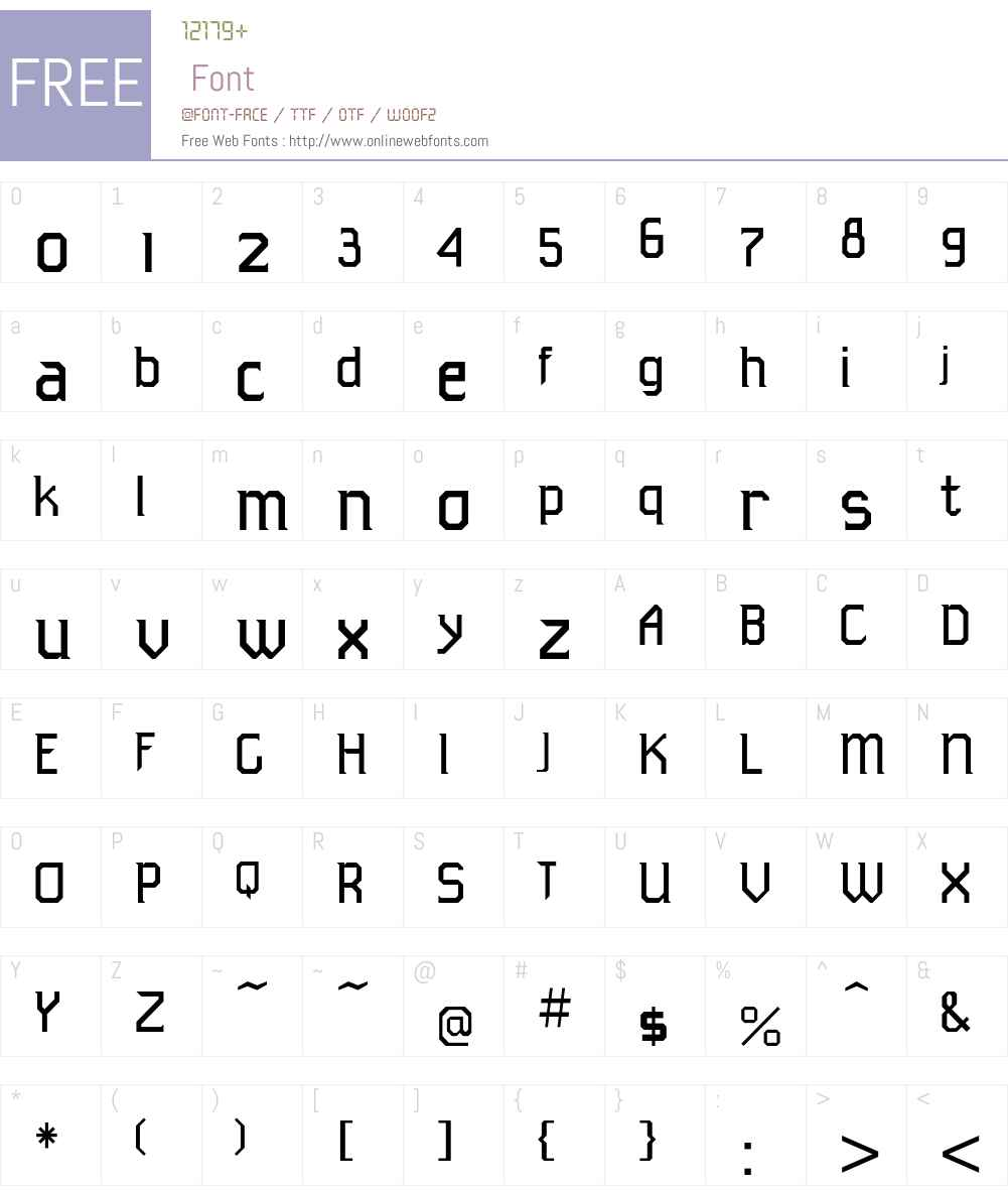 TeknoICG Font Screenshots